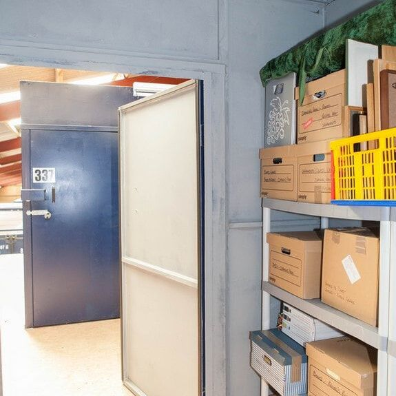 Shelved Small Self Storage Unit