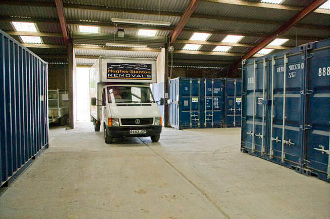 Drive up access to 20ft container storage units