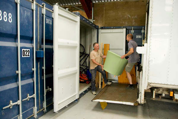 Drive up access to 10ft container storage units